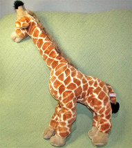 "32"" GIRAFFE Aurora World STUFFED Realistic Plush Wild Animal Tall Tan Toy  - $112.20"