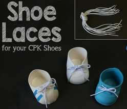 Doll Shoe LACES Cabbage Patch Kids Designer Line Hightop Weebok Toddler ... - $2.84+