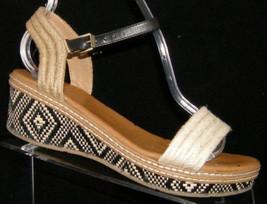 DV by Dolce Vita espadrille ankle buckle strap sandal platform wedges 4M - $23.05
