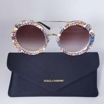 DOLCE & GABBANA DG2198S  PRINT FAMILY MAJOLICA Clip On Round Sunglasses  - $325.00