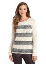 Sanctuary Clothing Striped Marled Baseball Sweater Ivory XS NWT Ships Free! - €25,44 EUR