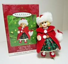 2000 Christmas Holly Doll Madame Alexander Hallmark Ornament Ice Skater ... - $10.99