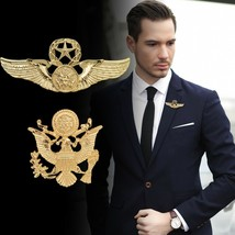 New Brooch Pin Men Lapel Suit Stick Collar European And American Militan... - $6.88