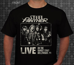 Steel Panther - rock band, Black T-shirt Short Sleeve-sizes:S to 5XL - $16.99+