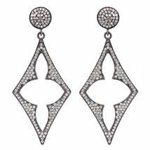 Newly Stud Cubic Zirconia 925 Sterling Silver Earring Shine Jewelry SHER... - $42.80