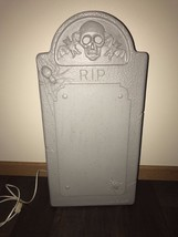 "New Vintage Union 25"" Lighted RIP Blow Mold Tombstone Decor Don Featherstone - $49.49"