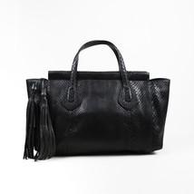 "Gucci Black Snakeskin ""Lady Tassel"" Tote Bag - $2,005.00"