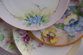 Vintage Floral Plates Meito Nortitake From Japan LOT Of 4 - $49.99