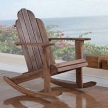 Outdoor Rocking Chair 37 inches Brown Versatile Patio Porch Relaxing Sea... - $116.09