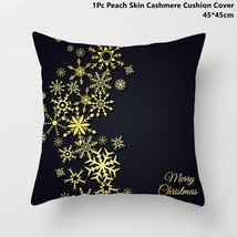 Snowflake Merry Christmas cushion cover Pillowcase for Home Decor - $3.92