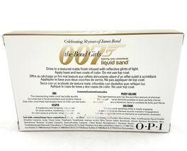OPI 007 The Bond Girls Liquid Sand Mini Nail Polishes Set Of 4 1/8 fl oz image 3