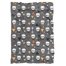 Geometric Skulls Fleece Blanket - $46.99+