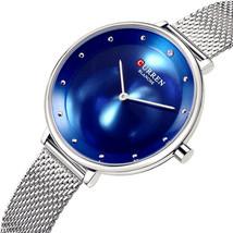 CURREN 9029 Casual Style Women Wrist Watch Mesh Stainless Steel Quartz Watches - $23.92