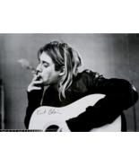 KURT COBAIN POSTER 24x36 inches UK Import with Guitar Smoking Pot black & white - £11.45 GBP