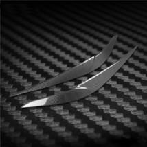 Carbon Fiber Car Headlight Cover Eyebrows Eyelid Trim  Decals For BMW X1... - $48.50