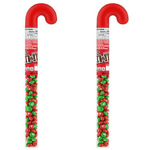 (2 Pack) M&M'S Milk Chocolate Candy, Holiday Candy Christmas Candy Cane, 3 Oz.