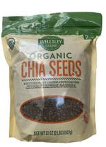 Wellsley Farms Raw USDA Organic Chia Seeds ALA Omega-3 GMO-Free, 32 OZ - $21.57