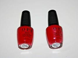 O.P.I Nail Lacquer NailPolish NL L54 California Raspberry Lot Of 2 New - $11.40