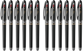 Pentel EnerGel Tradio 0.5mm Rollerball Pen (12pcs), Black / Red Ink, BLN115 - $35.99