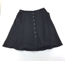 NY Collection Stretch Textured Casual Skirt Women's Black Plus Size 2X N... - $21.98