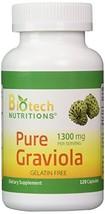 Biotech Nutritions Graviola 100% Pure Graviola 1300mg Per Servings 120 Capsules