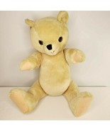 "Vintage 60s Blonde Mohair Teddy Bear Large 26"" Jointed Excelsior Stuffed... - $103.92"