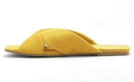 Women's dv Yellow Addie Microsuede Knotted Slide Sandals image 2