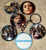 "Set of 6 Pinback Buttons 1 1/2"" & Key Chain SHAMELESS TV Series - $6.79"