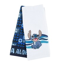 Disney Parks Stitch Aloha Greeting Cotton Dish Towels Set New with Tags - $28.45