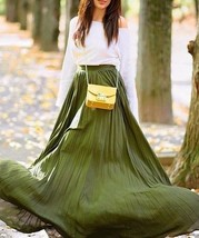Full Skirt Length Pleated Maxi Long Women Romantic Casual Basic Vacation... - $41.05+