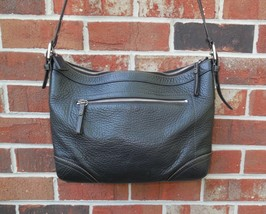 Coach Pebbled Leather Hobo 12323 Black Shoulder Bag Purse Convertible Strap - $65.00