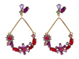 Betsey Johnson Fall Follies Flower Orbital Drop Earrings!! Nwt!! Msrp $5... - $23.22