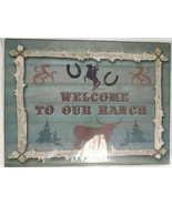 "Welcome To Our Ranch Metal Sign New in Plastic 10"" x 13"" - $16.82"