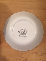 """Set of 2 vintage 60s J & G Meakin Renaissance (green) pattern  6 1/4"""" bowls image 3"""