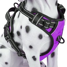 PoyPet No Pull Dog Harness, Reflective Vest Harness with Front & Back 2 Leash At