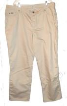 Sz 24W - NWOT Lee Khaki Beige Tan Relaxed Straight Leg Jeans - $37.99