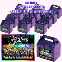 Splatoon Video Game Party Favor Boxes Thank you Decals Stickers Loots Pa... - $24.70