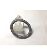 Bracelet Bangle Small Rounded Oval Handmade Polymer Clay Kaleidoscope Aq... - $30.00