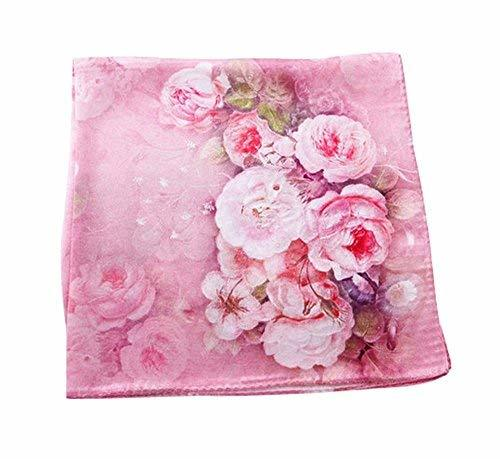 PANDA SUPERSTORE Pink Fragrance Silk Scarf Shawl Elegant Scarves Women Scarves