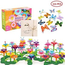 Flower Garden Building Set 3-6 Year Old Girls Toddlers and Kids Best Chr... - $25.67