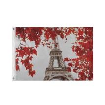 Party Decorations Flags Architecture Paris France Europe Custom Decor Flags - $24.99