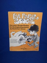 Five Finger Boogie Piano Music Book 5 easy etudes by David Carr Glover 1955 - $7.50