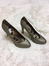 Sam Edelman Yasmine Gold Black High Heels Size 7.5 M - $29.70