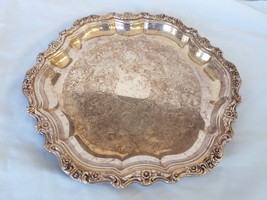 "VTG 1960's Contess Internationa 6271 Silver Plated 14.5"" Serving decor Tray - $64.35"