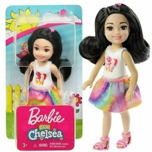 BARBIE CHELSEA CLUB Cat Doll BLACK HAIR Pink Cat TOP NEW - $13.72