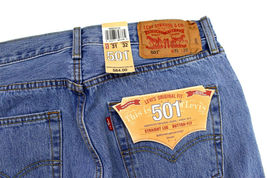 Levi's 501 Men's Original Fit Straight Leg Jeans Button Fly 501-0134 image 5