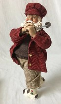 Kurt Adler Fabriche Golfer Santa Figurine KSA Collectibles Fabric Mache in Box - $49.95