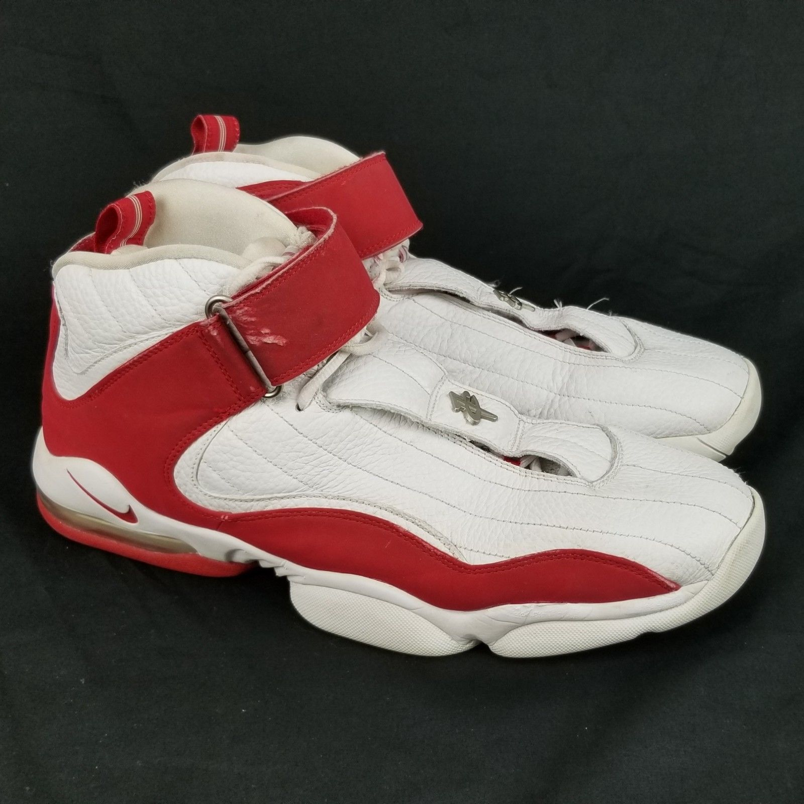 los angeles 219f0 2a4e2 ... Nike Air Max Penny IV Size 14 Mens DS White Red 312455-161 Retro ...