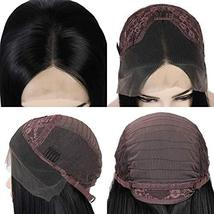 G&T Wig Black Lace Front Wig Long Straight Black Wig Heat Resistant Synthetic Ha image 3