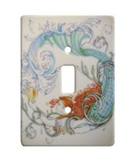 Redhead Mermaid Ceramic Single Switchplate Wall Floater Light Switch Cov... - $21.73